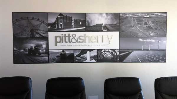 Pitt Sherry Wall Branding Launceston Photo Tex Brushed Aluminium