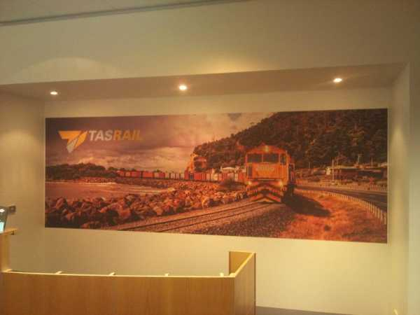 Tasrail Wall Graphic Tlaunceston