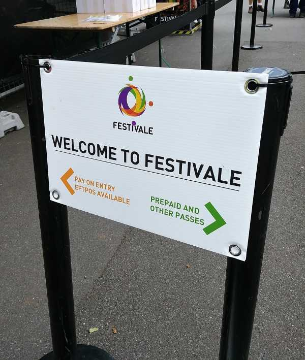 Festivale Corflute Sign Copy
