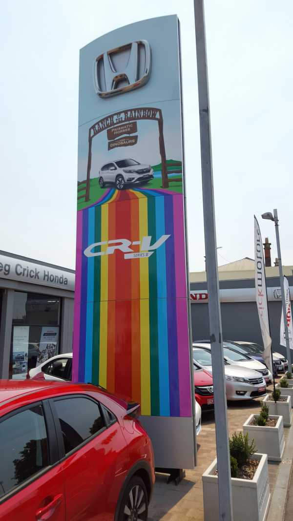 Launceston Honda Promotional Vinyl Overlay