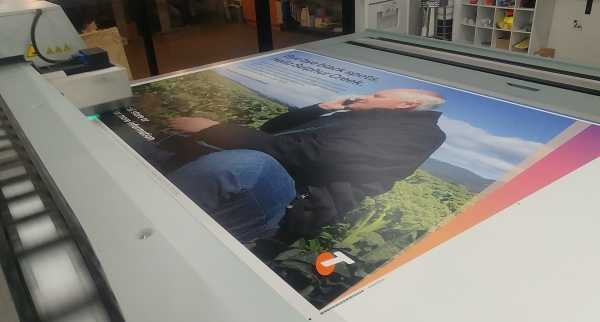Telstra Corflute Sign Flatbed Uv Printing