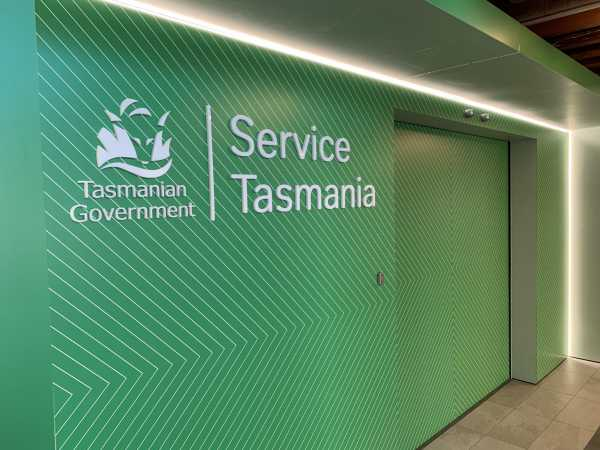 Service Tasmania at CH Smith Centre, Launceston - Wall graphics Acrylic sign