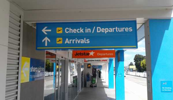 Launceston Airport Check In Signs Wayfinding