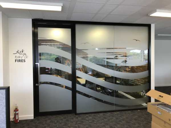 Launceston Airport window graphics meeting room