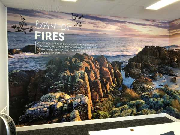 Meeting Room wall graphics Launceston Airport