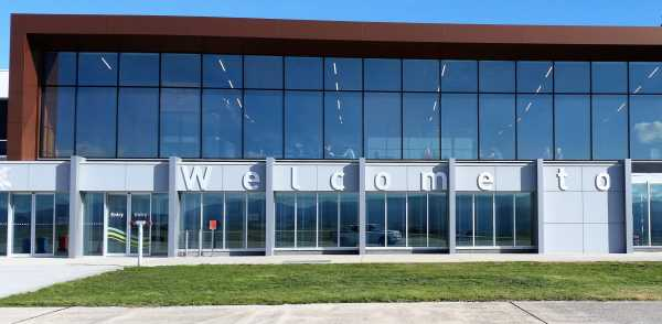 Launceston Airport Welcome Building Sign