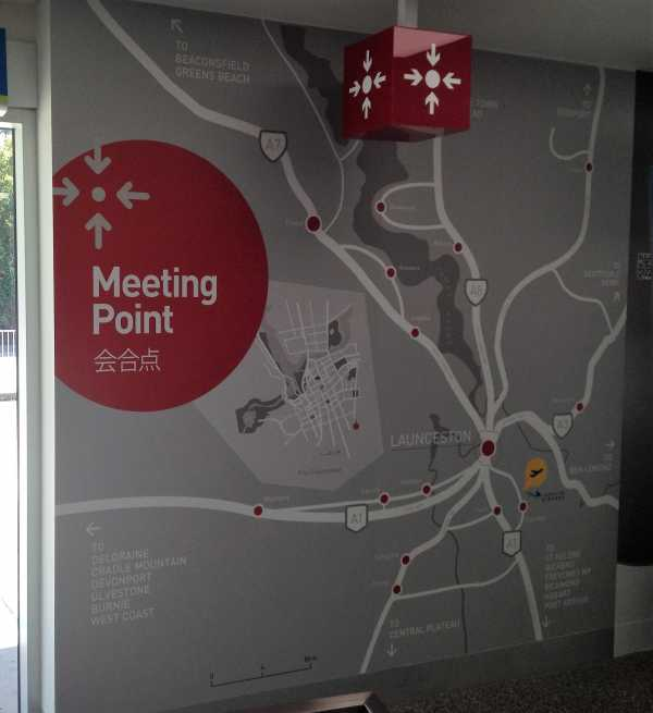 Launceston Airport Wayfinding Map