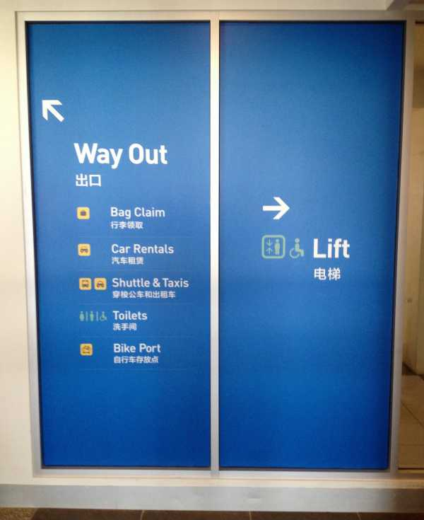 Launceston Airport Wayfinding Window Graphics