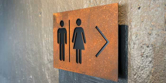Silo Hotel Corten Steel Laser Cut Toilet Sign