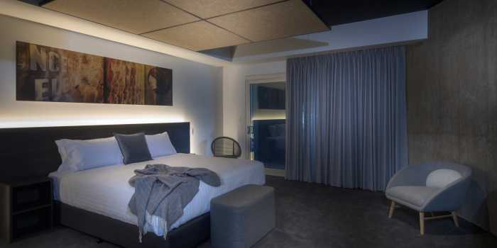Silo Hotel Room Artwork Brushed Aluminium Interior Design
