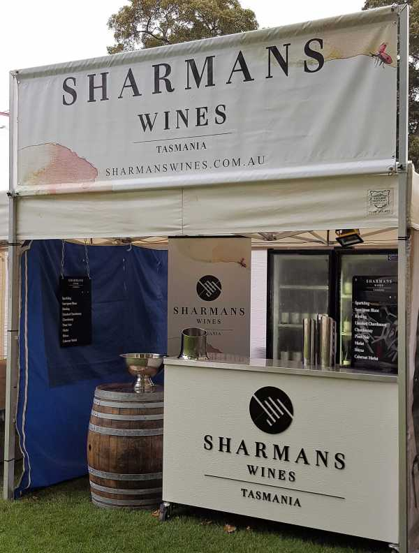 Sharmans Wines Event Trade Show Signage