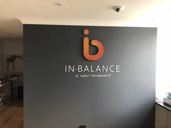 In Balance - Acrylic Reception Sign