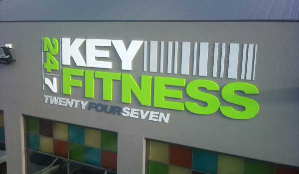 Key Fitness Building Sign Router Cut Letters