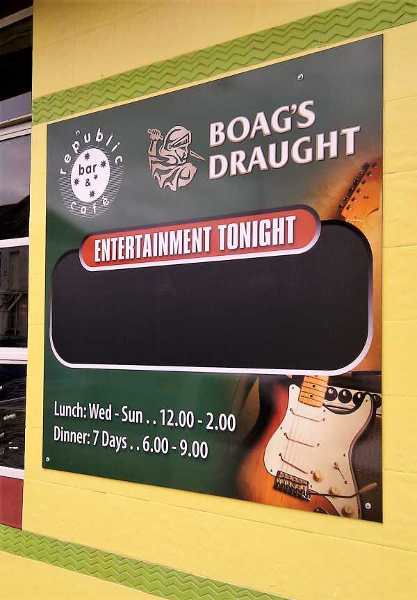 Boags Wall Sign Pub