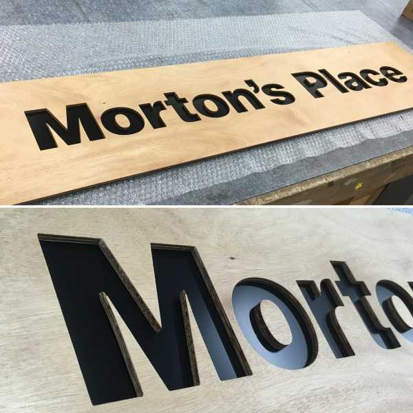 Mortons Place Timber Sign Router Cut Sign