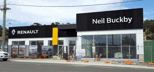 Neil Buckby Renault Building Signs Illuminated