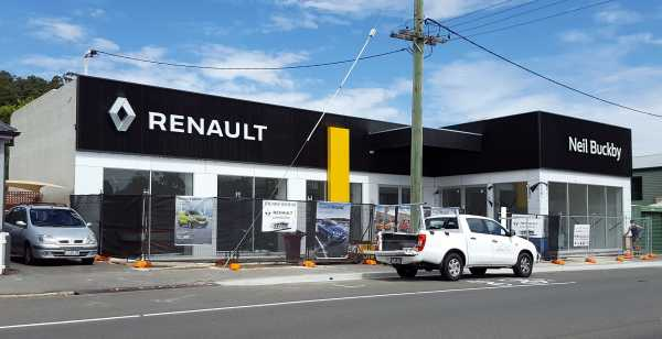 Neil Buckby Renault Signage Building