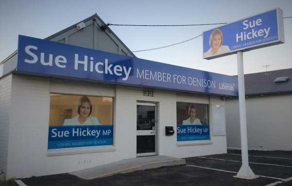Sue Hickey Office Signage Building Signs Window Graphics