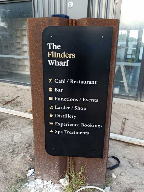 The Flinders Wharf Directory Sign