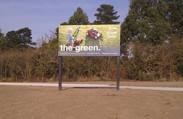 The Green Small Billboard Sign