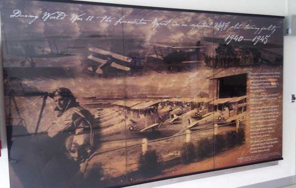 Launceston Airport Historical Print