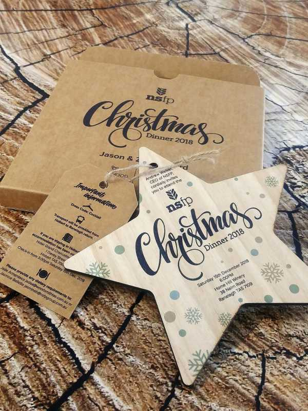 Printed Timber Invitations