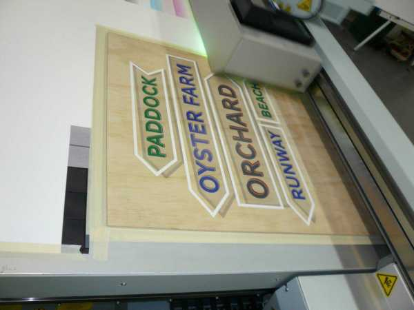 Timber Signs Flatbed Print