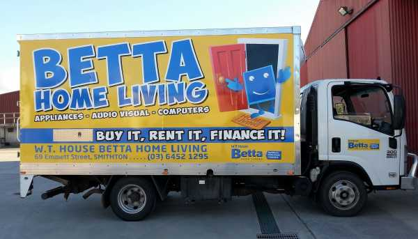 Betta Electrical Truck Wrap Vehicle Wrap Truck Signage