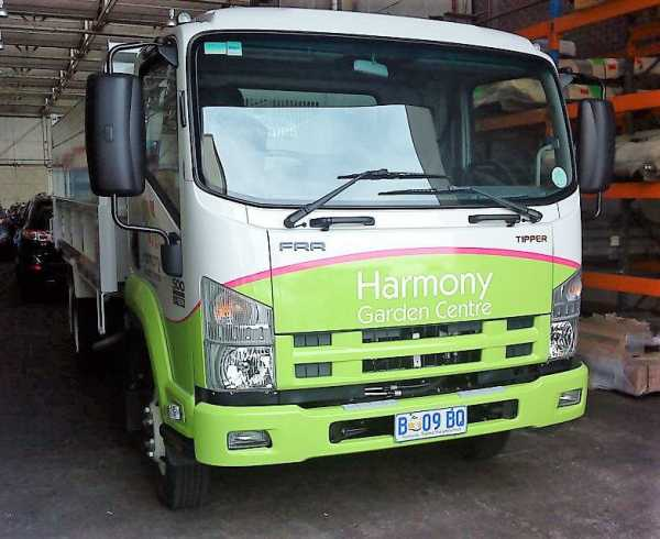 Harmony Garden Centre Truck Wrap Vehicle Wrap Truck Signs