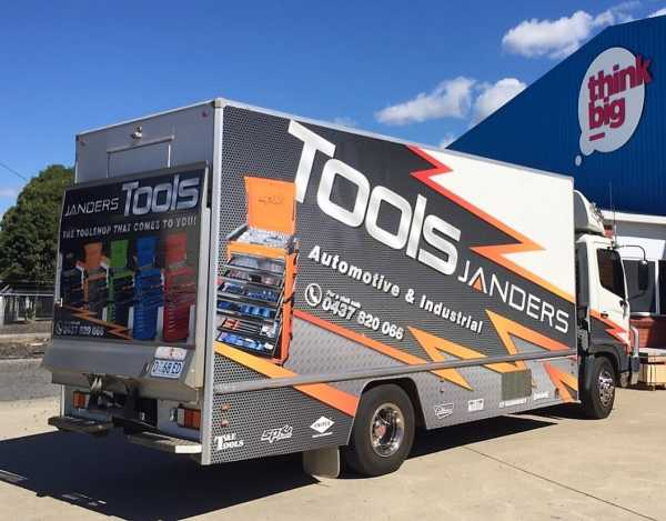 Janders Tools Truck Signage Truck Wraps Vehicle Wraps