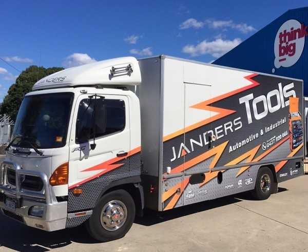 Janders Tools Truck Wrap Vehicle Wrap Truck Signs