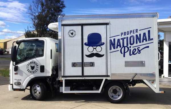 National Pies Truck Wrap