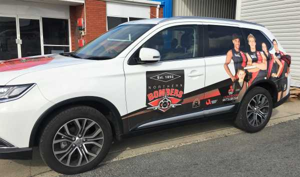Northern Bombers Car Wrap Signs