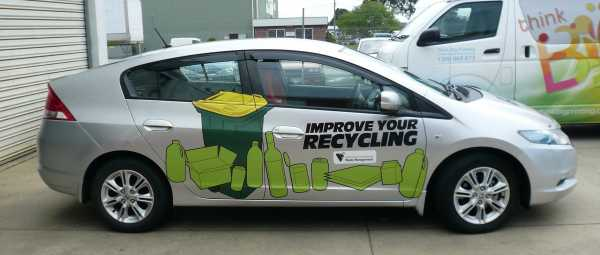 Recycle Car Wrap Vehicle Signs