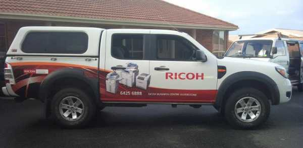 Ricoh Vehicle Wrap Car Signage Ute Signs
