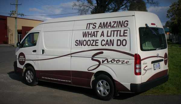 Snooze Vehicle Signage Vehcicle Wrap