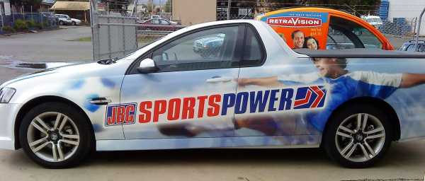 Sports Power Vehicle Signs Vehicle Wrap