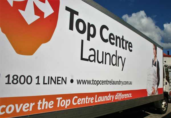 Top Centre Laundry Truck Graphics Wrap