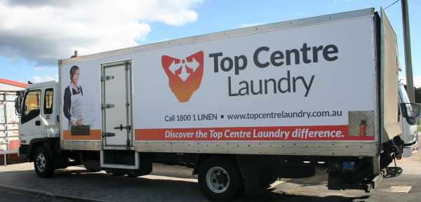 Top Centre Laundry Truck Wrap Graphics