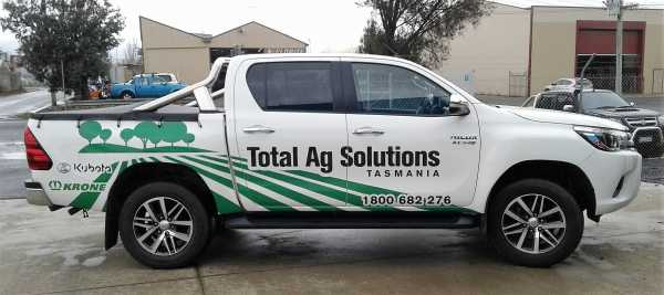 Total Ag Solutions 3 M Ute Wrap Signs