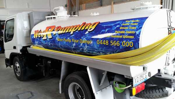 Wee Rpumping Truck Wrap Graphics