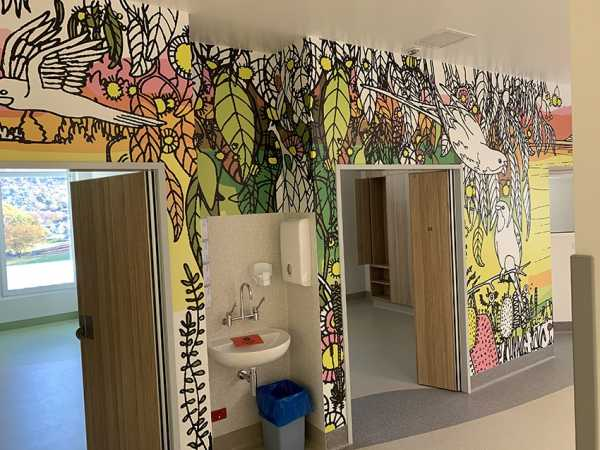 Hospital wall graphics childrens ward