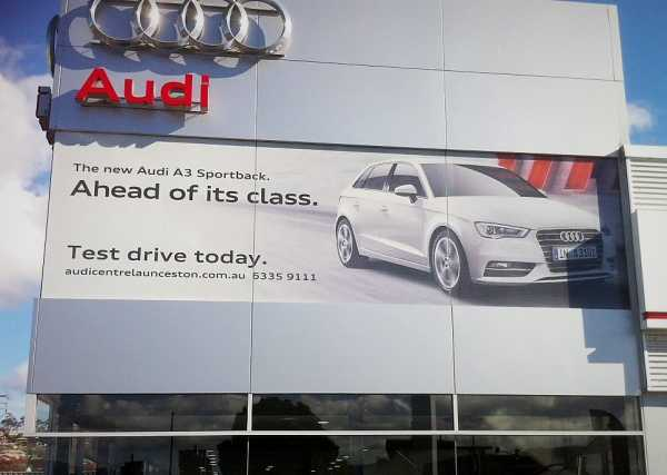 Audi Window Graphics One Way Vision Showroom Signage Copy