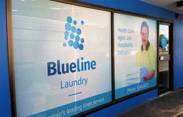 Blueline Laundry - Window Sign