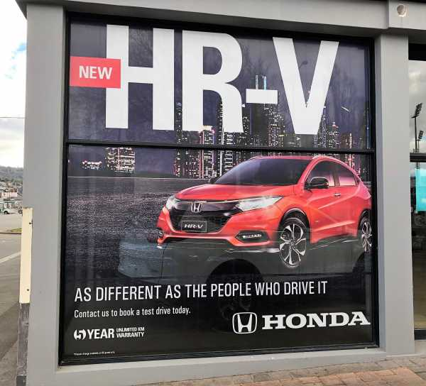 Honda Window Graphics One Way Vision