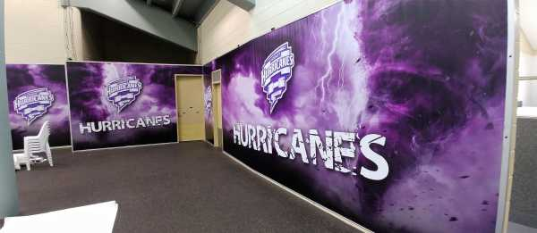 Hobart Hurricanes - Printed Change Room Wraps