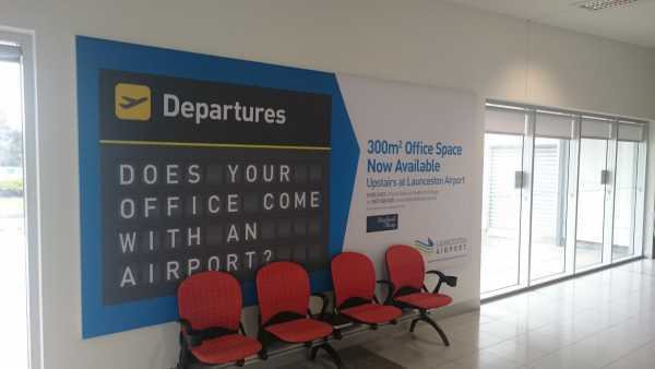 Launceston Airport Fabric Wall Graphic