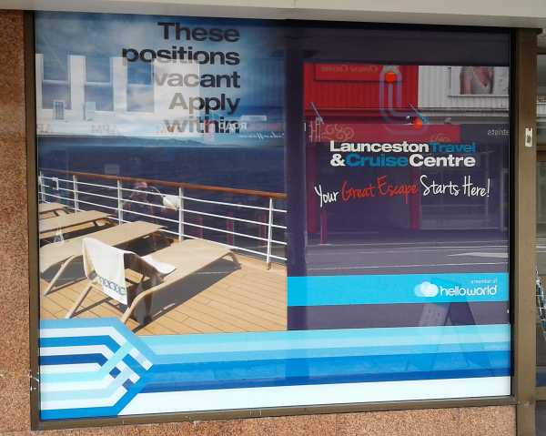 Launceston Cruise Centre Lightbox Window Graphics Copy