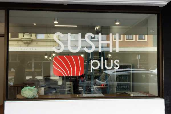 Shshi Plus Shop Sign Window Graphics Copy