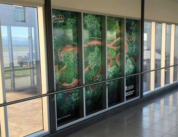 Walker Designs Launceston Airport Window Graphics